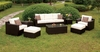Furniture of America - Mallo Contemporary Style Outdoor Patio 8PCLounge Set in White - IDF-OS1827WH-SET
