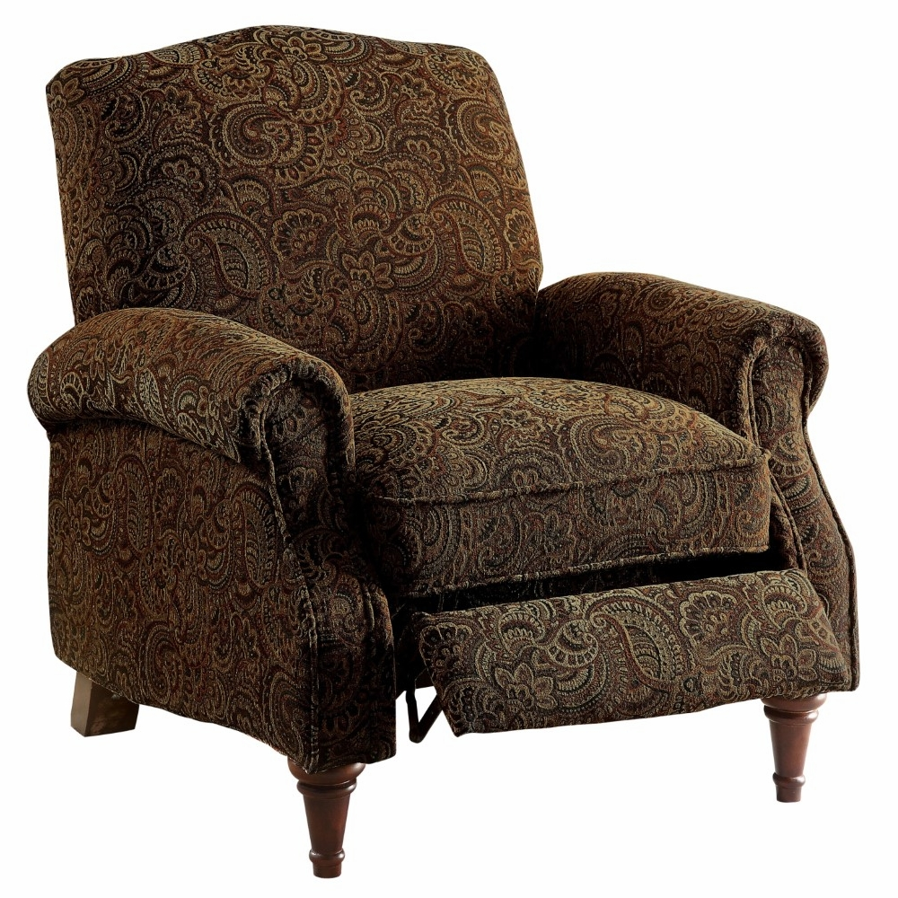 Stupendous Furniture Of America Manerva Traditional Style Push Back Brown Pattern Accent Chair Idf Rc6458Pa Gmtry Best Dining Table And Chair Ideas Images Gmtryco