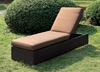 Furniture of America - Marta Contemporary Style Adjustable Back Outdoor Patio Chaise - IDF-OC1822BR