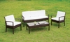 Furniture of America - Mason Contemporary Style 4PC Outdoor Patio Seating Set - IDF-OS2119