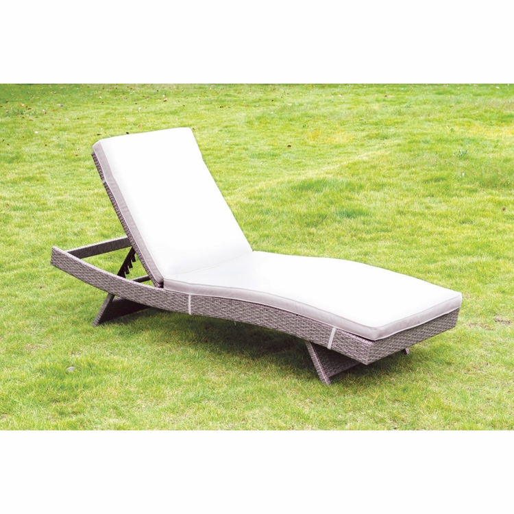 Furniture of America - Misa Contemporary Style Adjustable Back Outdoor Patio Chaise - IDF-OC2123