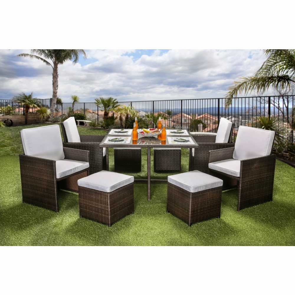 Furniture Of America Ronny Contemporary Style Outdoor Patio 9pc