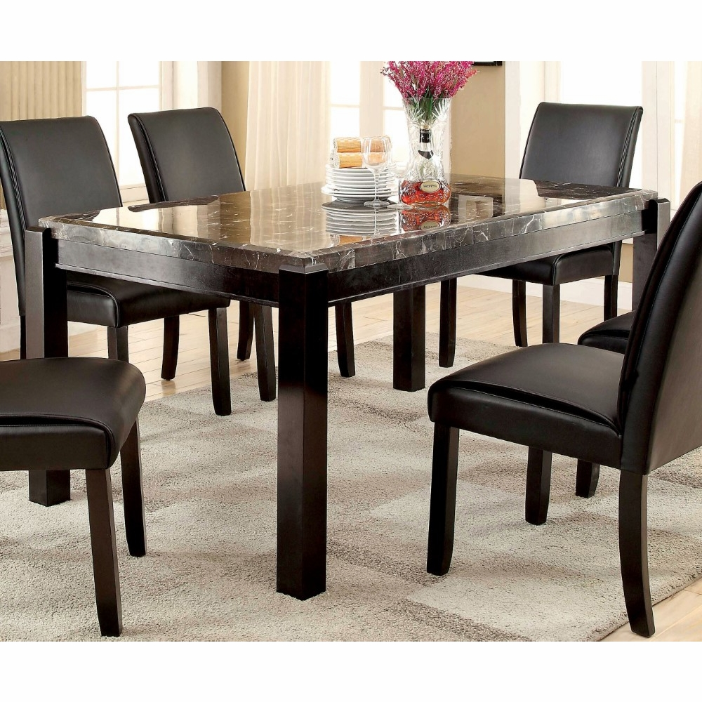 Furniture Of America Rumie Contemporary Genuine Marble Dining Table Idf 3823t