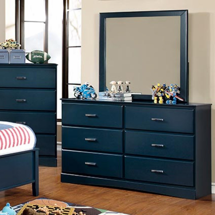Furniture of America - Stella Modern Dresser and Mirror - IDF-7941BL-DM