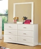 Furniture of America - Stella Modern Dresser and Mirror - IDF-7941WH-DM