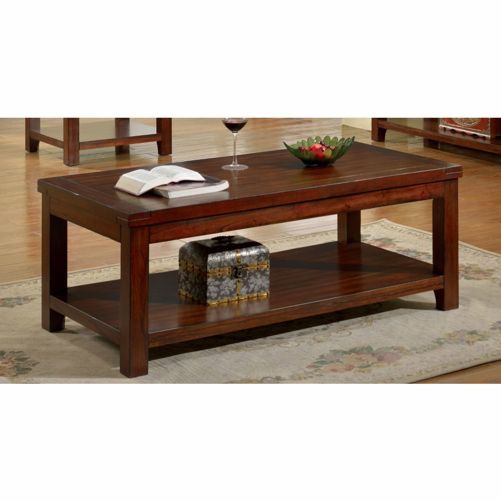 Furniture Of America Too Transitional Style Natural Wood Grain Design Coffee Table Idf 4107c