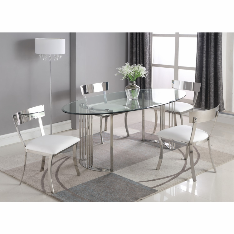Chintaly - Maiden 5 Pieces Dining Set Table With 4 Side Chairs - MAIDEN-5PC