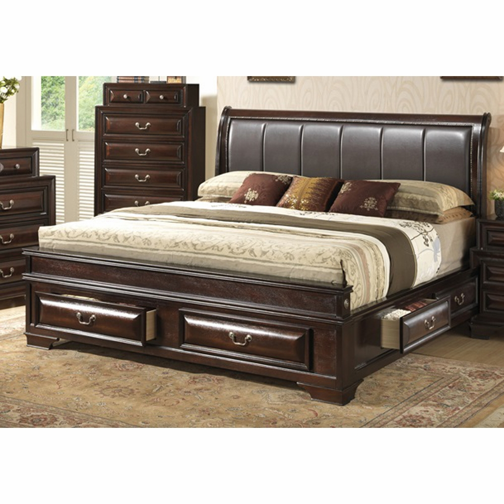 Glory Furniture King Storage Bed G8875c Kb3