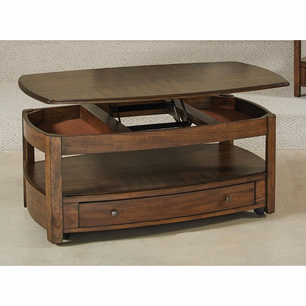Hammary Primo Rectangular Lift Top Cocktail Table Kd 446 910