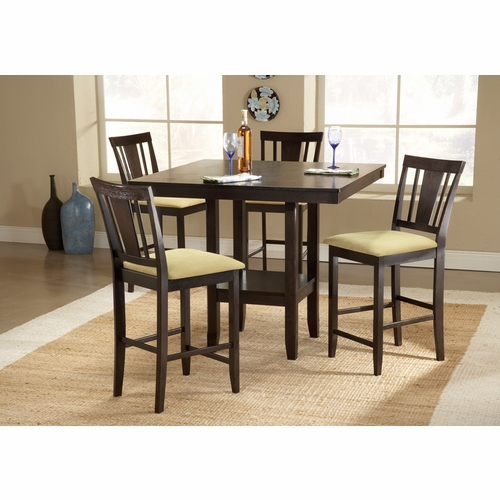 Hillsdale - Arcadia 5-Piece Counter Height Dining Set - 4180DTBSG