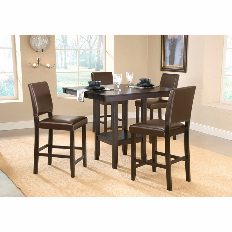 Hillsdale - Arcadia 5-Piece Counter Height Dining Set W/Parson Stools - 4180DTBSPG