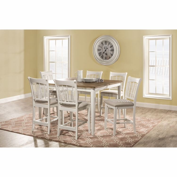 Hillsdale - Bayberry 7 Piece Counter Height Dining Set With Non Swivel Counter Height Stools - 5791DTBSG7