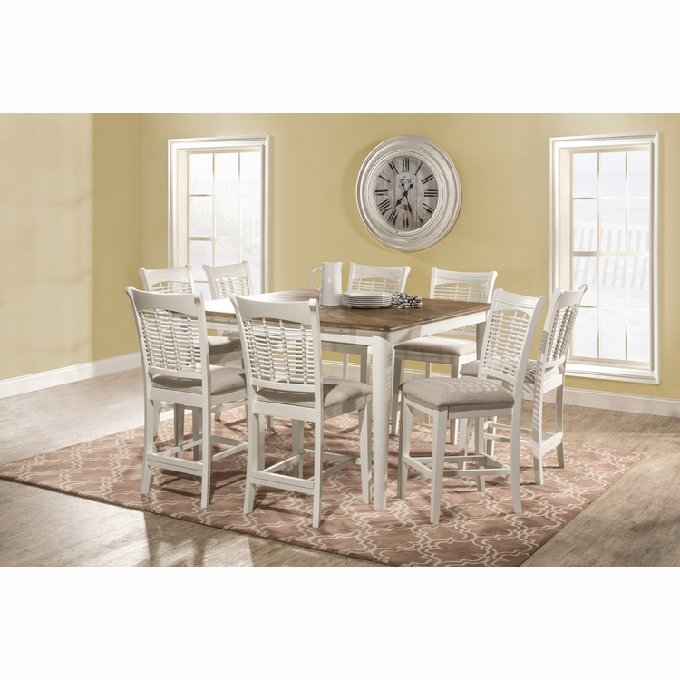 Hillsdale - Bayberry 9 Piece Counter Height Dining Set With Non Swivel Counter Height Stools - 5791DTBSG9
