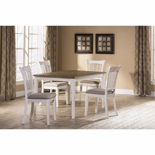 Hillsdale - Bayberry / Embassy 5-Piece Rectangle Dining Set - White  - 5791DTBRC
