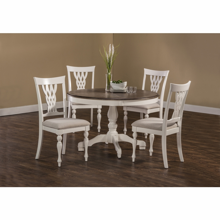 Hillsdale - Bayberry / Embassy 5-Piece Round Dining Set - White  - 5753DTBC