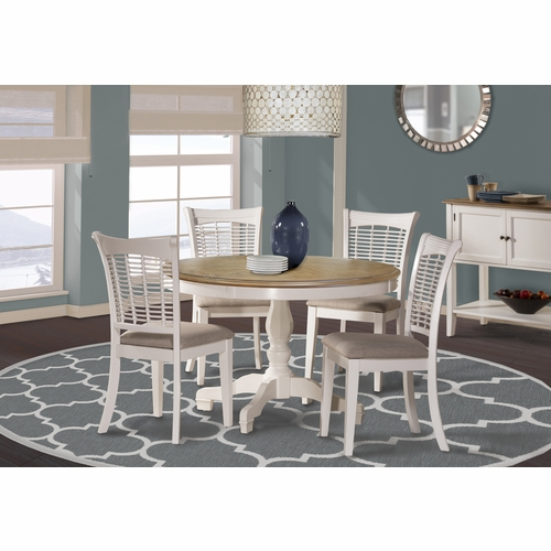 Hillsdale - Bayberry / Embassy 5-Piece Round Dining Set - White  - 5791DTBC