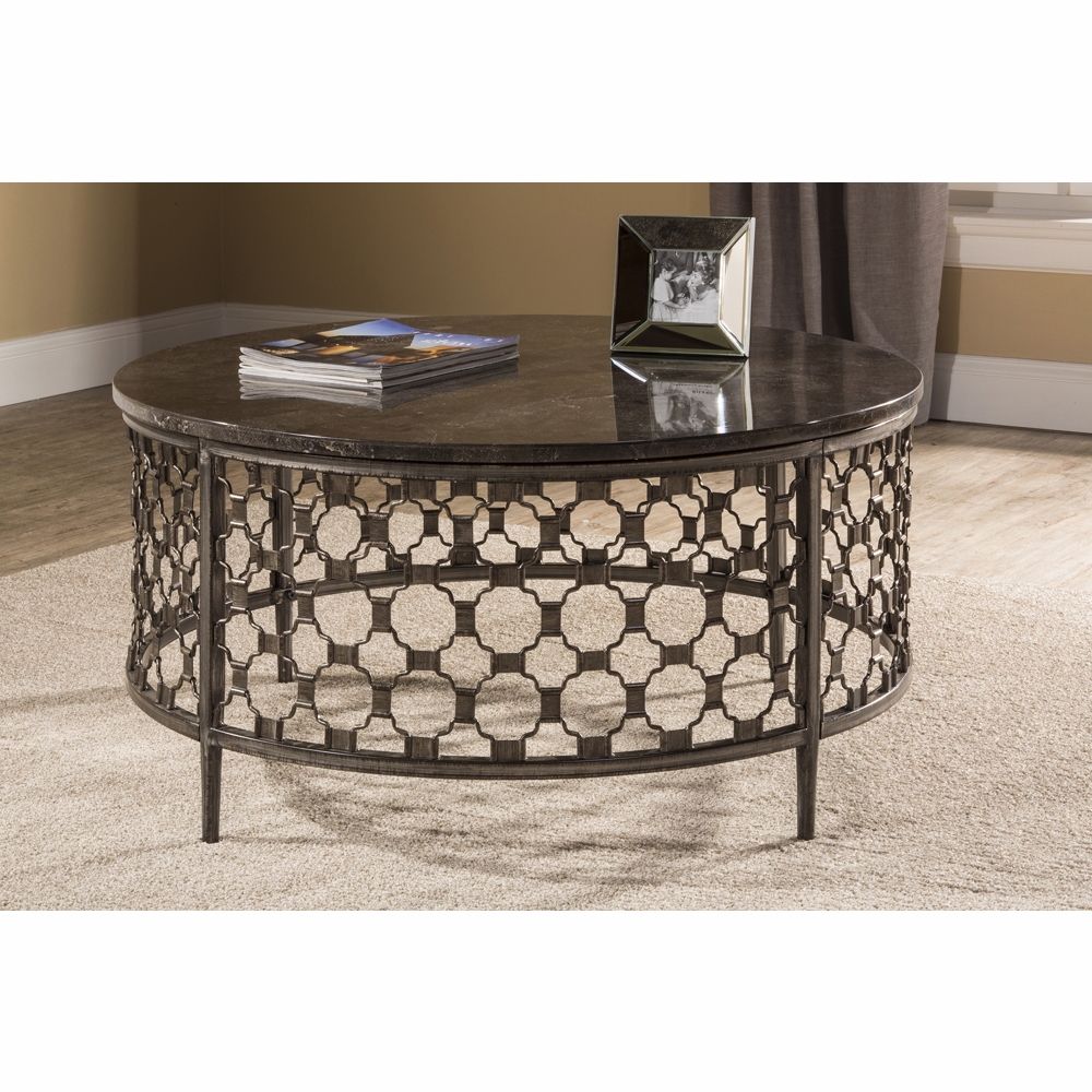 Astounding Hillsdale Brescello Round Coffee Table 5752Otc Andrewgaddart Wooden Chair Designs For Living Room Andrewgaddartcom
