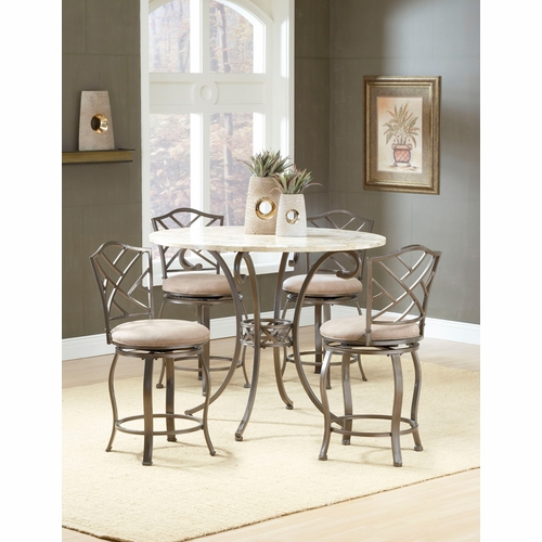 Hillsdale - Brookside 5-Piece Counter Height Dining With Hanover Stools - 4815DTBSGHR