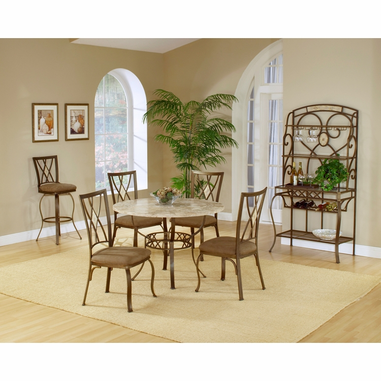 Hillsdale - Brookside 5-Piece Round Dining Set With Diamond Back Chairs - 4815DTRNBCDM