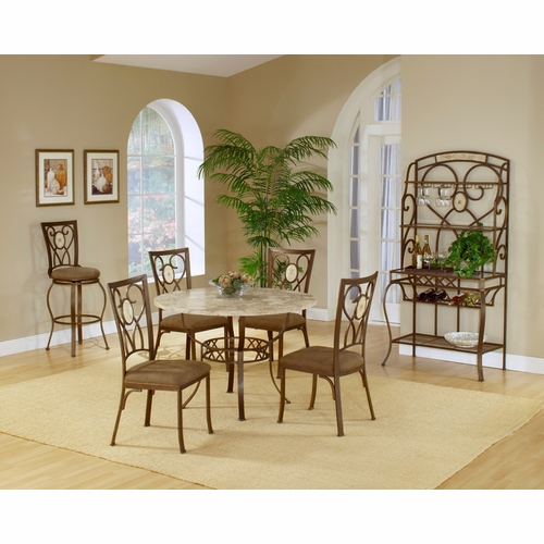 Hillsdale - Brookside 5-Piece Round Dining Set With Oval Back Chairs - 4815DTRNBCOV