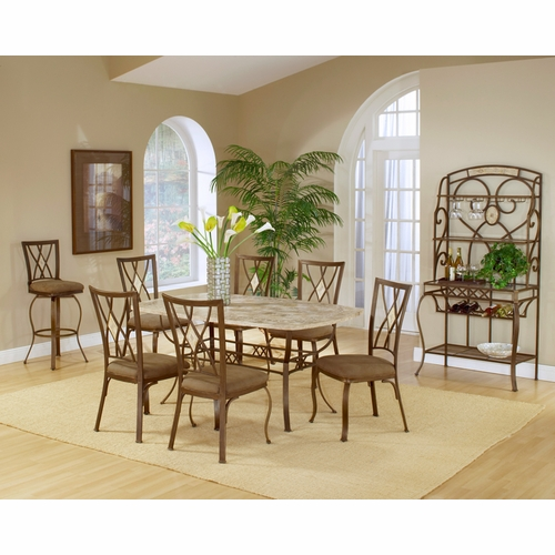 Hillsdale - Brookside 7-Piece Rectangle Dining Set With Diamond Back Chairs - 4815DTBCDM7