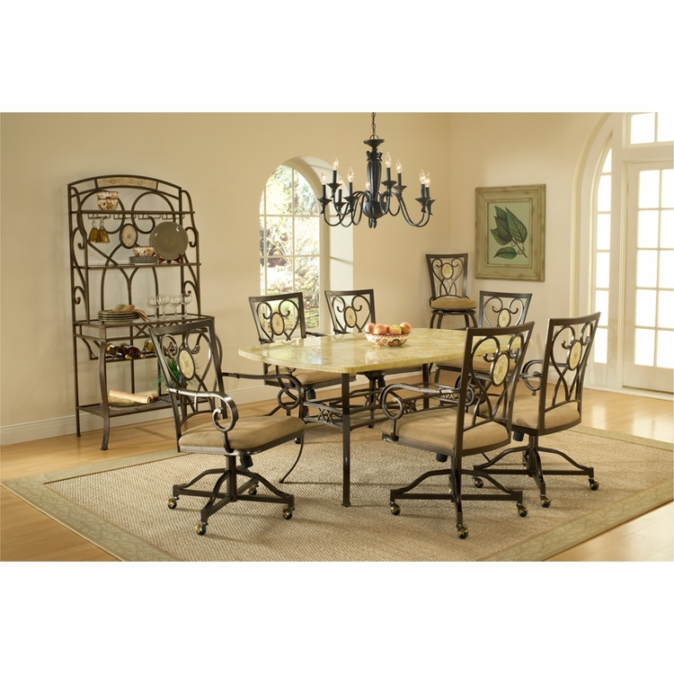 Hillsdale - Brookside 7-Piece Rectangle Dining Set With Oval Back Caster Chairs - 4815DTBCOVC7