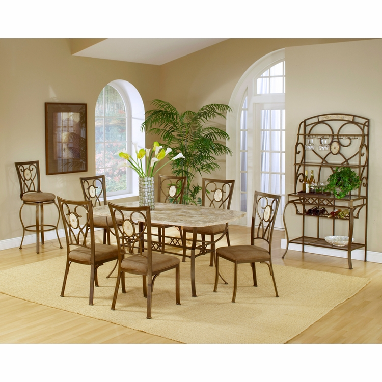 Hillsdale - Brookside 7-Piece Rectangle Dining Set With Oval Back Chairs - 4815DTBCOV7