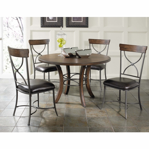 Hillsdale - Cameron 5-Piece Round Wood Base Dining Set w/X-Back Chairs - 4671DTBWC2