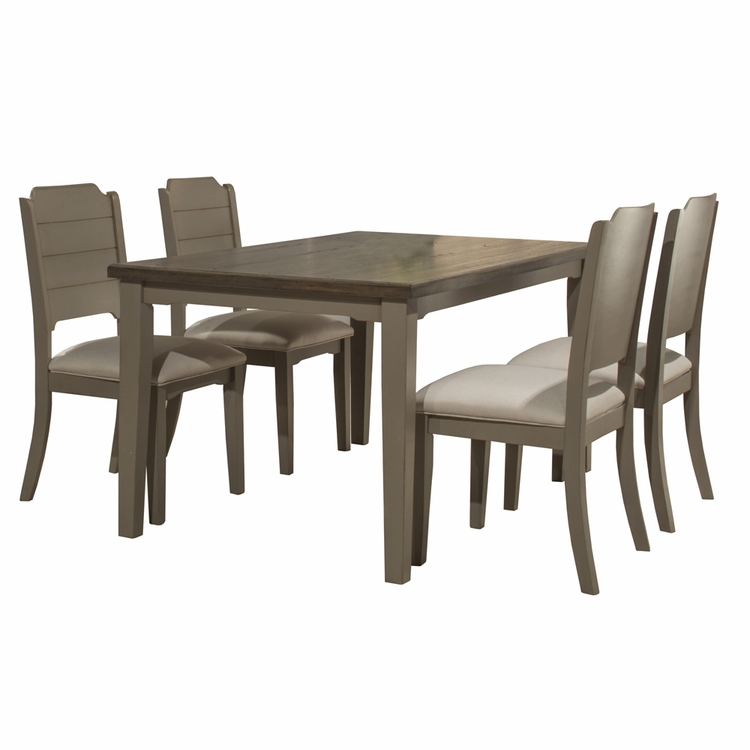 Hillsdale - Clarion 5 Piece Rectangle Dining Set With Side Chairs Distressed Gray - 4541DT5C2