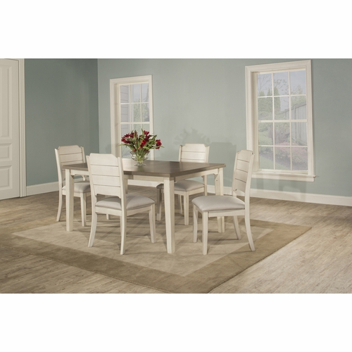 Hillsdale - Clarion 5 Piece Rectangle Dining Set With Side Chairs Sea White - 4542DT5C2