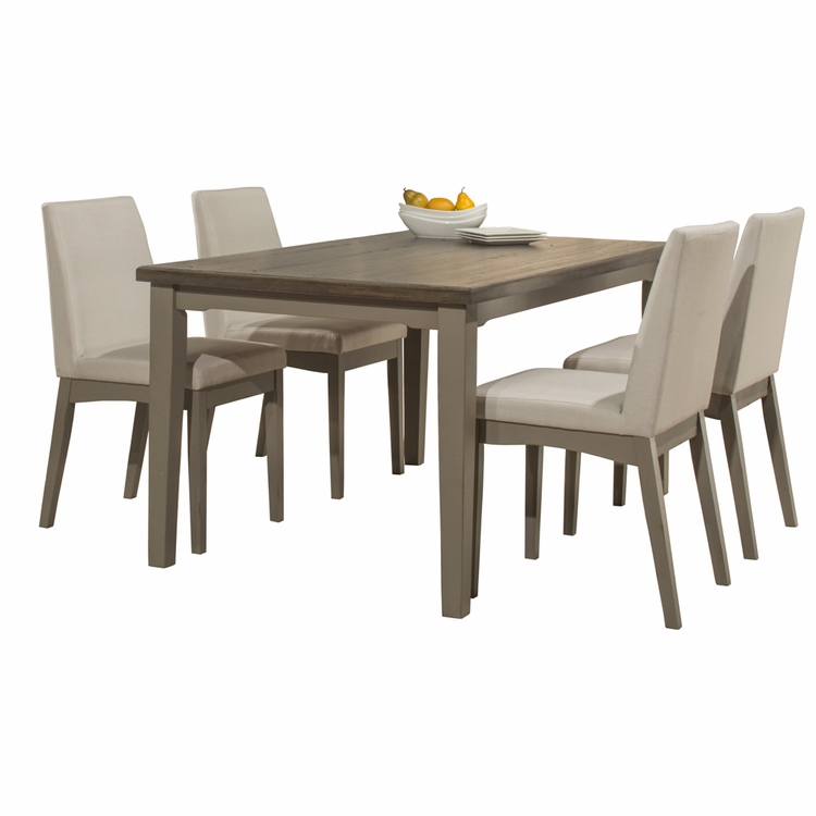 Hillsdale - Clarion 5 Piece Rectangle Dining Set With Upholstered Chairs Distressed Gray - 4541DT5C3