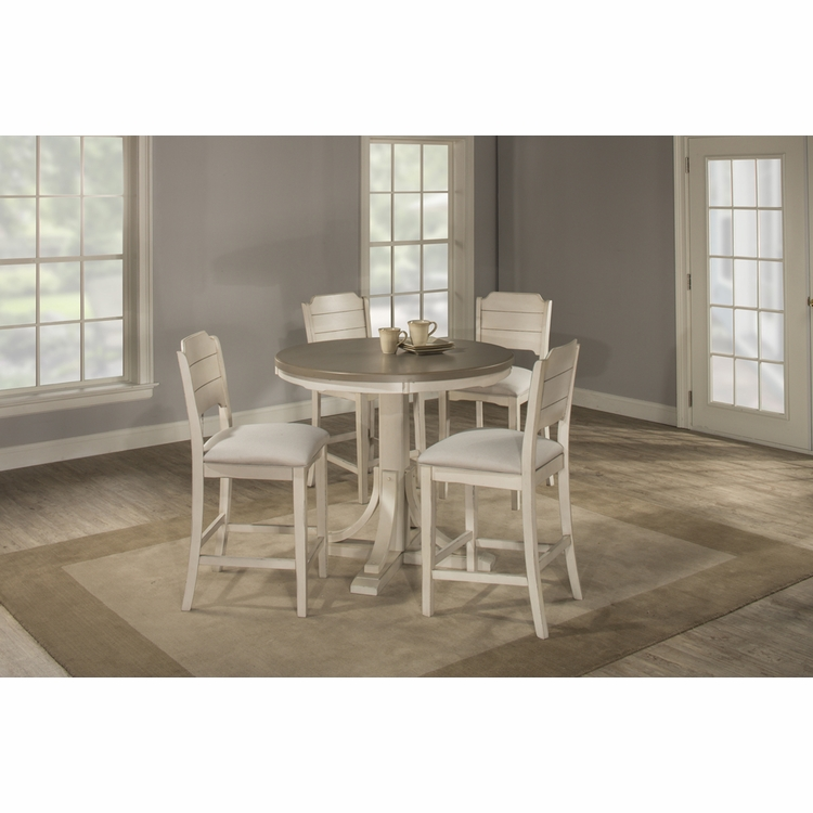 Hillsdale - Clarion 5 Piece Round Counter Height Dining Set With Open Back Stools - 4542CTB5S2
