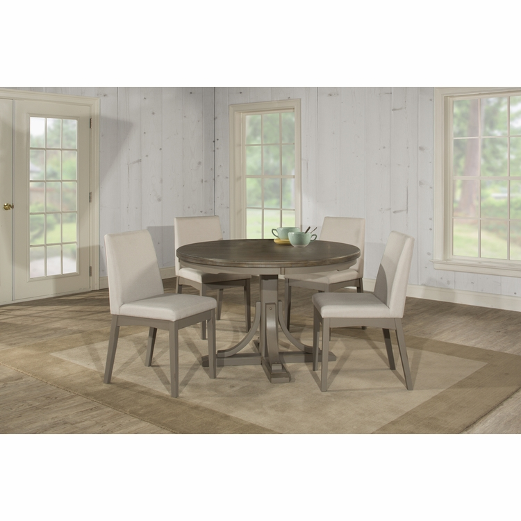 Hillsdale - Clarion 5 Piece Round Dining Set With Upholstered Chairs - 4541DTB5C3
