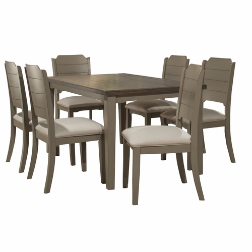 Hillsdale - Clarion 7 Piece Rectangle Dining Set With Side Chairs Distressed Gray - 4541DT7C2