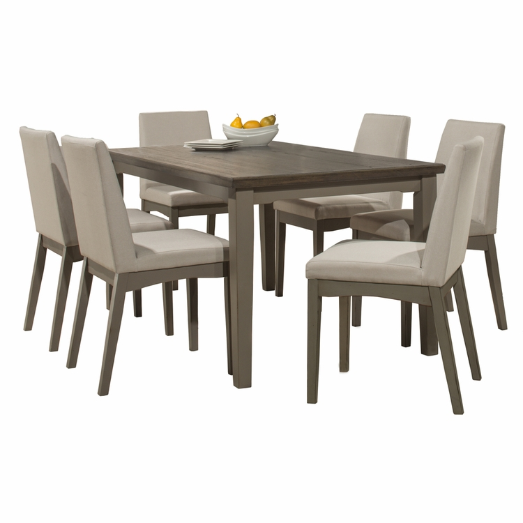Hillsdale - Clarion 7 Piece Rectangle Dining Set With Upholstered Chairs Distressed Gray - 4541DT7C3