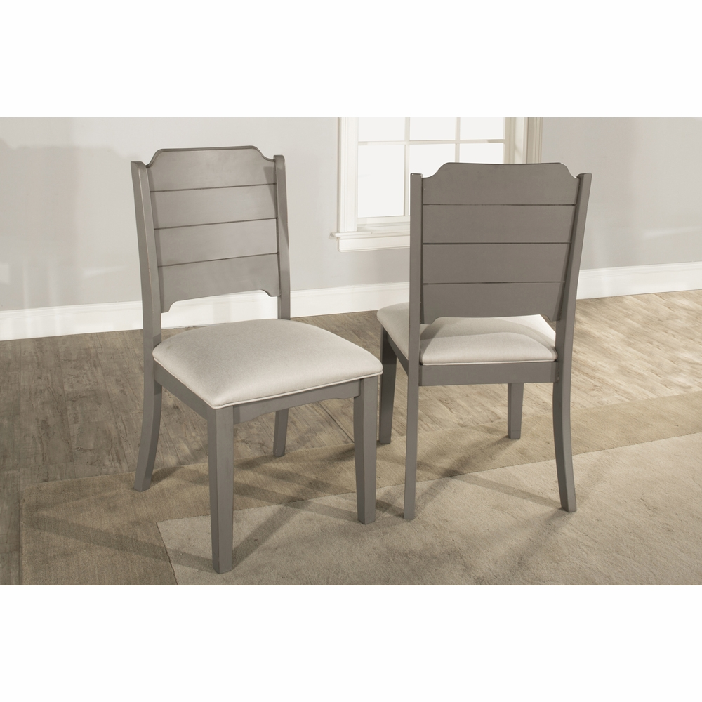 Astounding Hillsdale Clarion Dining Chair Set Of 2 Distressed Gray 4541 802 Gmtry Best Dining Table And Chair Ideas Images Gmtryco