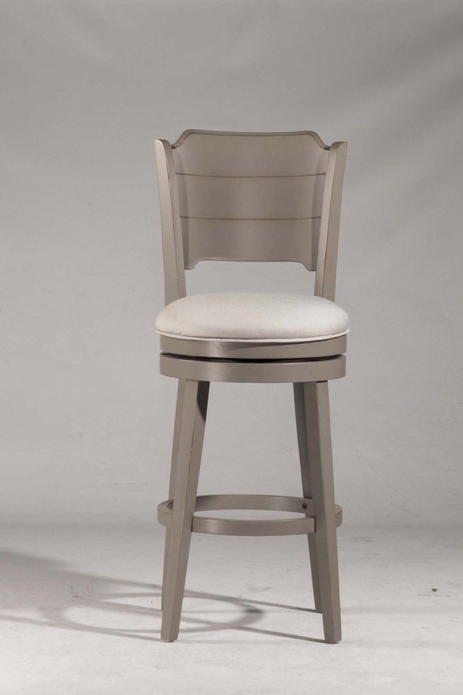 Hillsdale Clarion Swivel Bar Stool Distressed Gray Wood