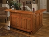 Hillsdale - Classic Large Oak Bar with Side Bar - 62576AXOAK