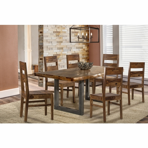 Hillsdale - Emerson 7 Piece Rectangle Dining Set With Wood Chairs Natural Sheesham - 5674DTBCW