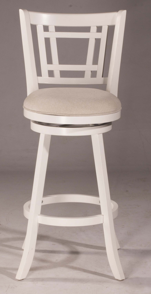 Hillsdale Fairfox Swivel Bar Stool White Wood Finish