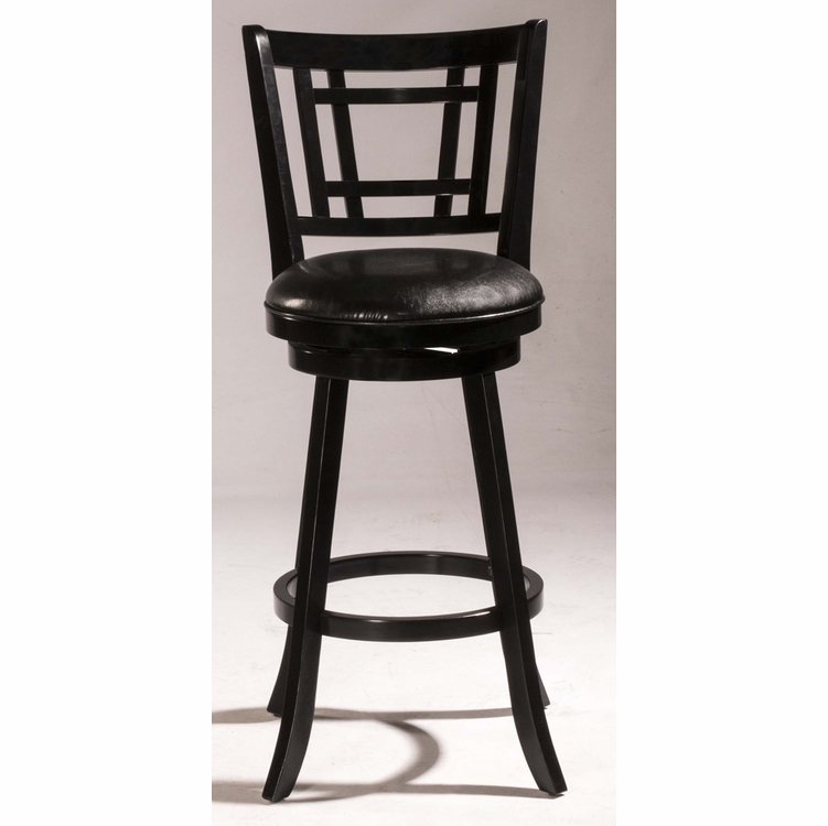 Hillsdale - Fairfox Swivel Counter Stool Black Wood Finish - 4650-827