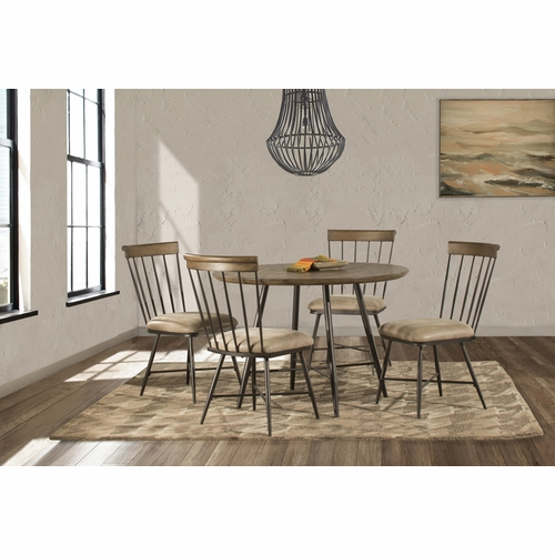 Hillsdale - Forest Hill Round Dining Set With Side Chairs In Brown 5 Piece - 4736DT