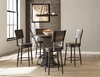 Hillsdale - Jennings 5-Piece Round Counter Height Dining Set with Swivel Counter Stools - 4022CDTS5PC
