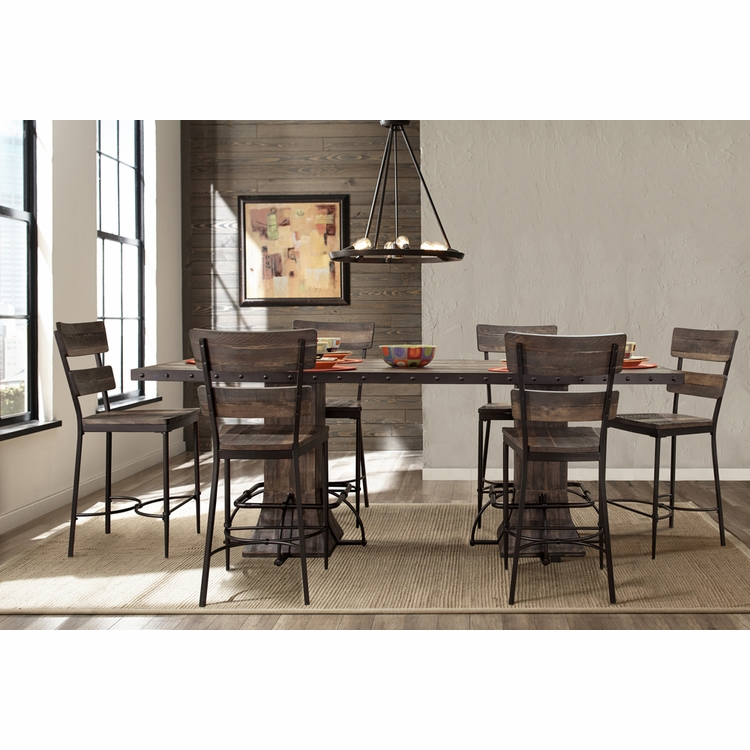 Hillsdale - Jennings 7-Piece Rectangle Counter Height Dining Set with Non-Swivel Counter Stools - 4022CDT7PC