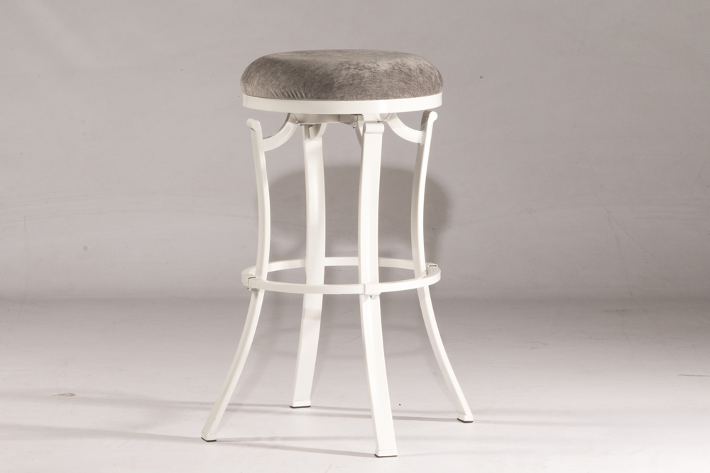 Groovy Hillsdale Kelford Swivel Backless Bar Stool White Metal Finish 4488 831 Andrewgaddart Wooden Chair Designs For Living Room Andrewgaddartcom