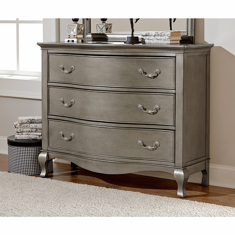 3 Drawer Single Dresser Antique Silver 30505 Hover To Zoom