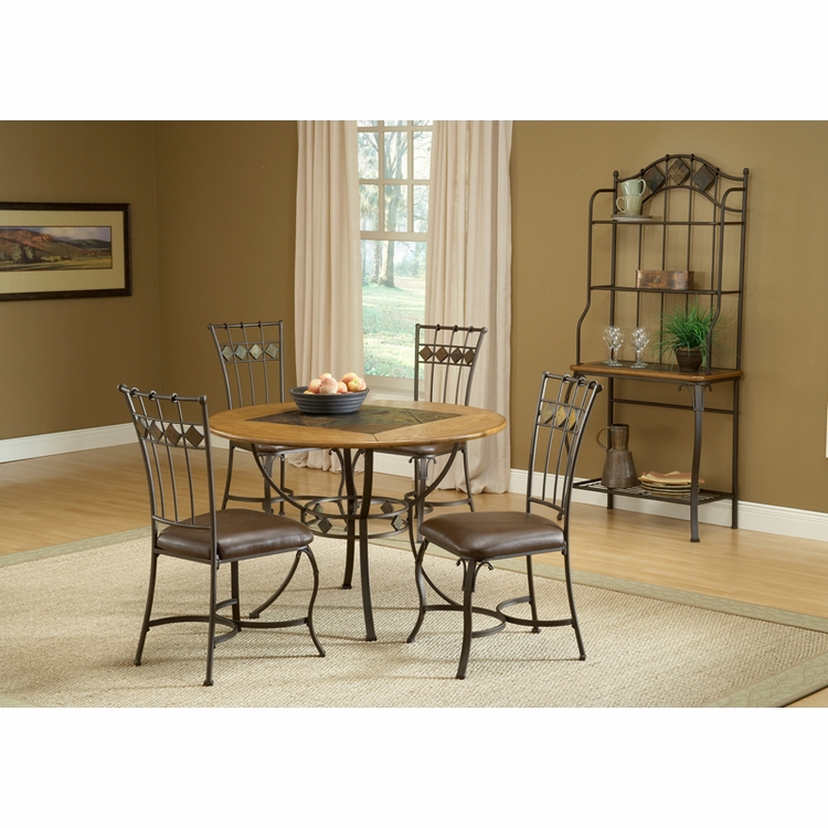 Hillsdale - Lakeview 5-Piece Round Dining Set W/Slate Chairs - 4264DTBRDCS