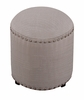 Hillsdale - Laura Backless Vanity Stool - Gray Fabric  - 50993