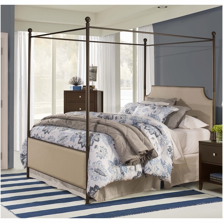 hillsdale - mcarthur canopy king bed set in bronze finish