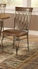Hillsdale - Montello Dining Chair With Brown Faux Leather  Set of 2 - 41543H